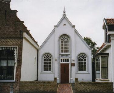 """Afbeelding van """"Baptisten kerk, het witte kerkje op It Sud"""""""