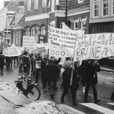 """Afbeelding van """"Protest spoorlijn"""""""